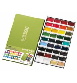 Kuretake Aquarelverf - Gansai Tambi Water Colours Brush Set  - set van 36