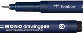 Tombow Fineliner Mono Drawing pen 03 zwart