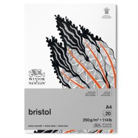 Winsor & Newton Bristol papier - 20 vellen 250 grams papier - A4