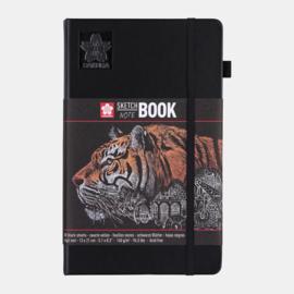 Sakura Brush / Schetsboek 13 x 21 cm  - 80 vellen - Zwart papier