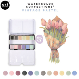 Prima Marketing Confections Aquarelverf Vintage Pastel  - set van 12 kleuren