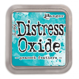 Tim Holtz Distress Oxide Inkt Pads groot - Peacock feathers