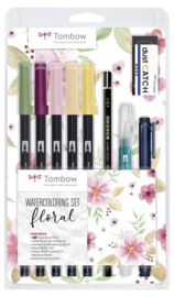 Tombow Watercoloring set Floral - set van 10