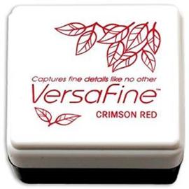 Tsukineko VersaFine inktpad 3 x 3 cm - watervaste inkt - Crimson red