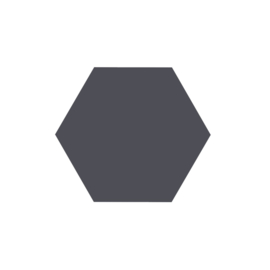 Vaessen Creative - Figuurpons hexagon maxi