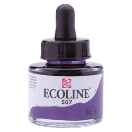 Talens Ecoline Vloeibare waterverf 30 ml - 507 ultramarijnviolet