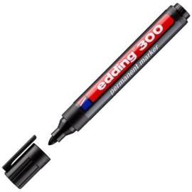 Edding permanent pen 300 - ronde punt 1,5-3 mm zwart