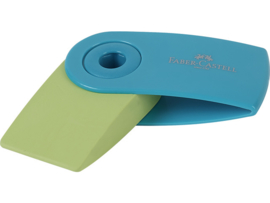 Faber Castell gum Sleeve - Groen/turkoois