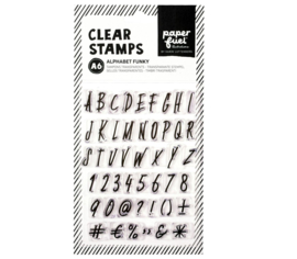 Paperfuel Clear stamp alphabet funky - set van 47