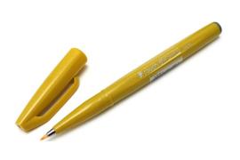 Brushpen Pentel Touch Pen SES15C - Geel