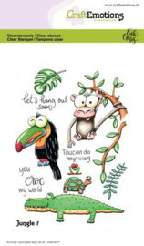 CraftEmotions clearstamps A6 - Jungle 1 - Carla Creaties