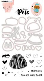 Studio Light Clear Stamp & Die Cut Karin Joan - Missees pets benny bear nr.06