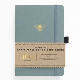 Archer & Olive bulletjournal/Notitieboek 17,6 x 25 cm (B5) Vintage Bee - 160 pagina's - Dotted - Kraft Papier