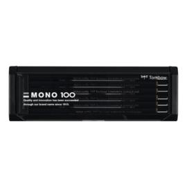 Tombow Mono 100 potloden - set van 12 in kunststof bewaar blik