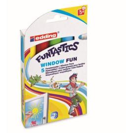 Edding Funtastics Window Fun Raam/krijtstift - rond 2-6 mm - set van 5