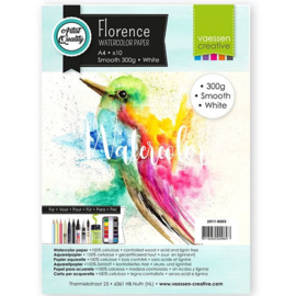 Florence Aquarelpapier smooth Intense White - 10 vellen 300 grams papier - A4