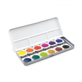 FINETEC - verftablet 30mm waterverf aquarel 89012 - 12 kleuren