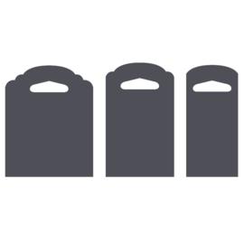 Vaessen Creative - Etiketten label pons 3 in 1 - 3,8 cm, 5,1 cm en 6,4 cm - hang-tag pons