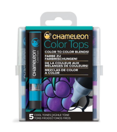 Chameleon Alcohol based Color Tops - Cool Tones - set van 5