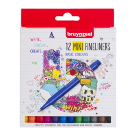 Bruynzeel MINI Fineliners Basic Colours - set van 12