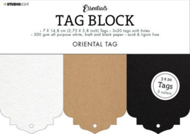 Studio Light Labelblok -  60 labels 7 x 14,8 cm - Essentials Oriental