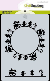 CraftEmotions Mask stencil Christmas -circle cars - A6