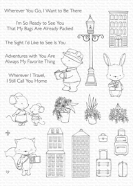 My Favorite Things clear stamps - set van 22 - SY Travel Plans
