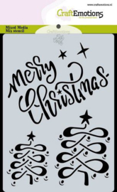 CraftEmotions Mask stencil Christmas - Merry Christmas - A6