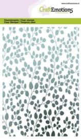 CraftEmotions clearstamps A6 - eucalyptus achtergrond