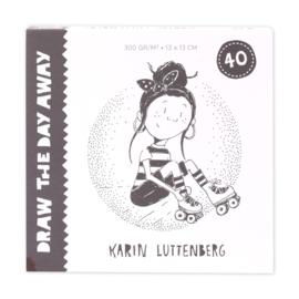 Paperfuel - Blanco kaartenblok 13x13cm - Draw the day away - 40 vellen