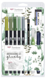 Tombow Watercoloring set Greenery - set van 10