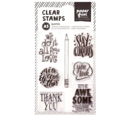 Paperfuel Clear stamp A5 quotes - set van 7