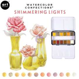 Prima Marketing Confections Aquarelverf Shimmering lights - set van 12 kleuren