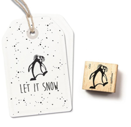 Cats on Appletrees - Houten stempel - 25x25mm - Crested Penguin 2 Oda