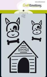 CraftEmotions Mask stencil Odey & Friends - Odey en hok - A6