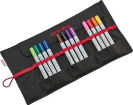 SenseBag roletui voor 18 markers zwart