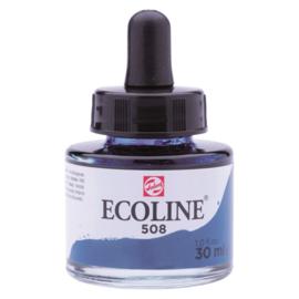 Talens Ecoline Vloeibare waterverf 30 ml - 508 pruisischblauw