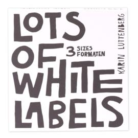 Paperfuel Labelblok 15 x 15 cm - 135 blanco labels - Lots of White Labels