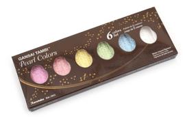 ZIG Aquarelverf - Gansai Tambi Sets - Pearl Colors, 6 kleuren