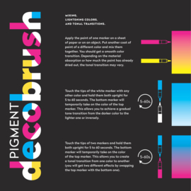 Karin Pigment DecoBrush Acrylmarkers  - set van 36 - Designer Colors