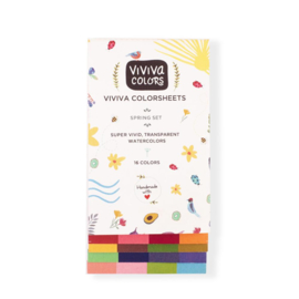 Viviva Colorsheets Aquarelverf Spring Single Set - 16 kleuren