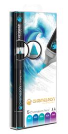 Chameleon Alcohol based Pens - Cool Color Tones - set van 5