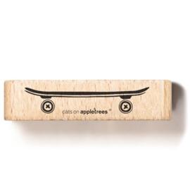 Cats on Appletrees - Houten stempel - 60x15mm - Skateboard