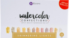 Prima Marketing Confections Aquarelverf Shimmering lights - set van 12 kleuren