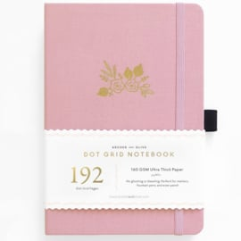 Archer & Olive bulletjournal/Notitieboek A5 - 192 pagina's - Dotted - Light Pink