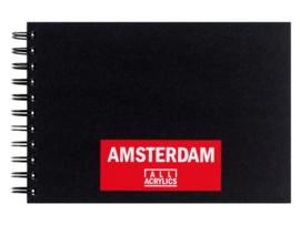 Amsterdam schetsboek met ringband 21 x 14,8 cm - 30 vellen wit - 250 grams - kaft zwart