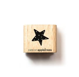 Cats on Appletrees - Houten stempel - 15x15mm - Christmas Star
