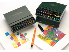 Faber Castell Pitt Artist Pen Brush Studiobox - set van 24