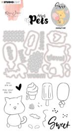 Studio Light Clear Stamp & Die Cut Karin Joan - Missees pets sweet cat nr.10