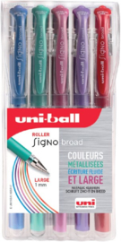 Uni-ball Signo Metallic Gelpennen - UM-153 GSW 1,0 mm - set van 5